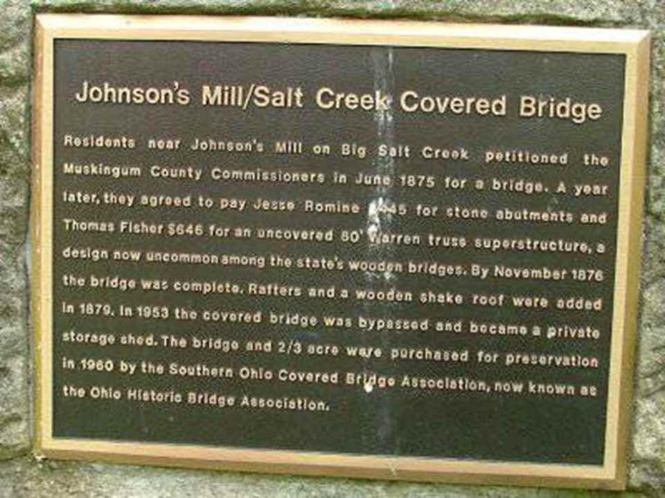 Johnson's Mill-Salt Creek Covered Bridge